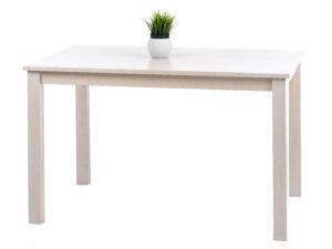 Söögitoakomplekt SALLA + 4 tooli pehme istmega (valge peits)